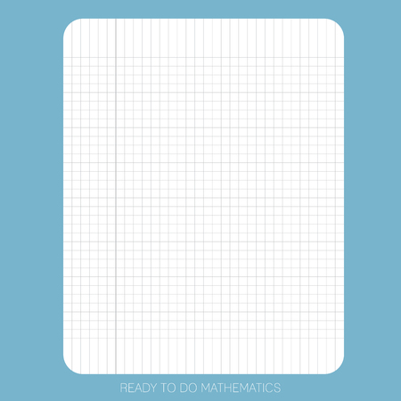 White plain paper on the blue background is ready to use or print for people who would like to do  mathematic exercises or find solutions for mathematic.