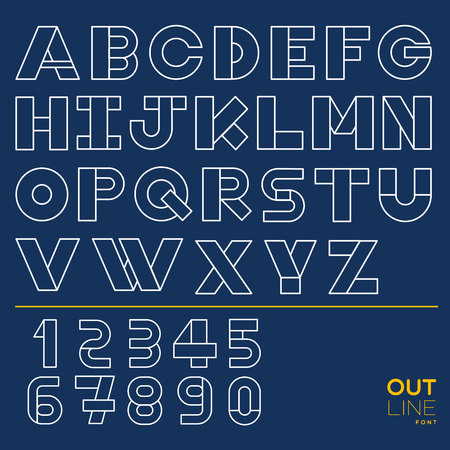 26 English alphabets and 10 number created in graphic style with adjustable line and simple shape.