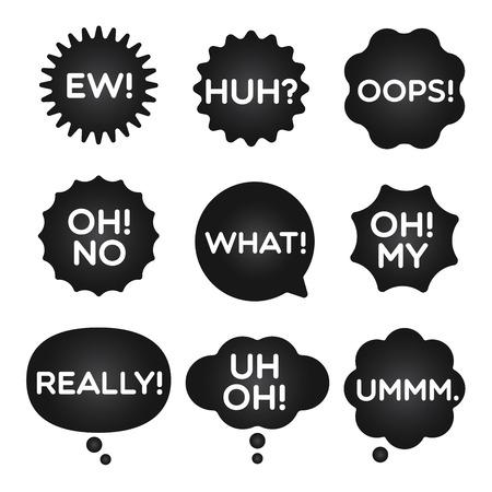 人気の黒式バブル式言葉を怖がらせます。