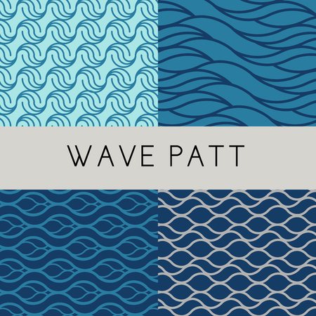 lines are created to different styles of wave pattern in simply design that would be useful for background design, wallpaper or banner. Illustration