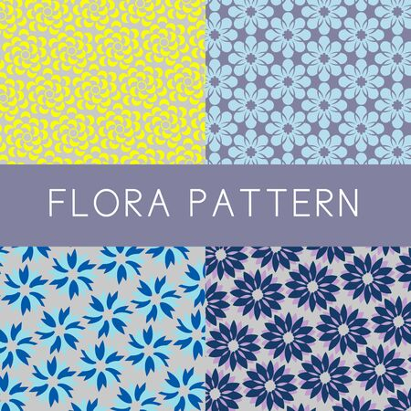 screen partition: Flower patterns are created in simply design and 2-tone color that would be useful for background design, wallpaper or banner. they are ready to be used as fabric pattern. Illustration