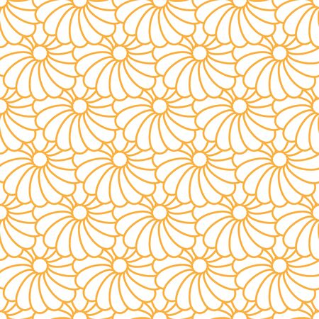 Light yellow flower pattern on the white background. this seamless graphic can be used as pattern or applied in any kind of artwork such as screening on fabric or backdrop.