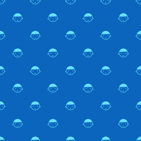 Happy boy with smiles are arranged as pattern on the blue background. This seamless pattern can be used for monitor wallpaper, wrapped and etc.