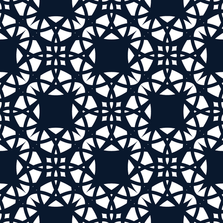 screen partition: White oriental graphic is on dark blue background. This pattern can be used for textile, carpet, wallpaper, curtain and etc.