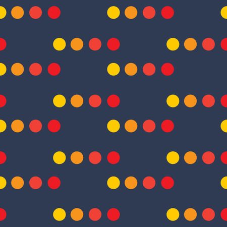Warm color dots pattern  on dark blue background, This simple pattern can be used for textile, carpet, wallpaper, curtain, monitor wallpaper, banner and etc.