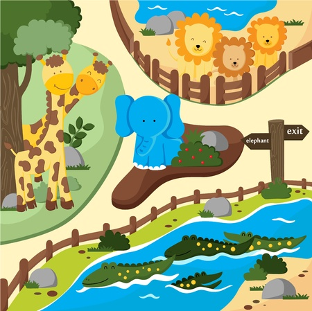 Sunny Zoo Illustration