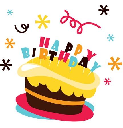 Birthday cake for birthday celebration Illustration