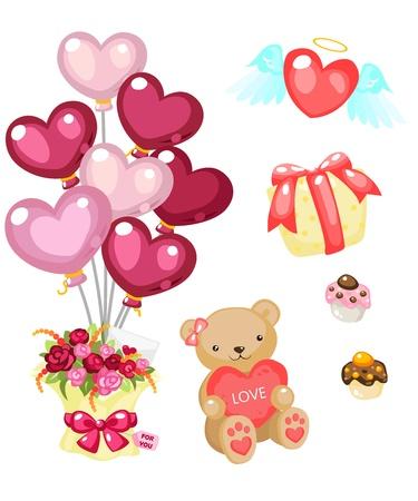 Valentine items to celebrate Vector