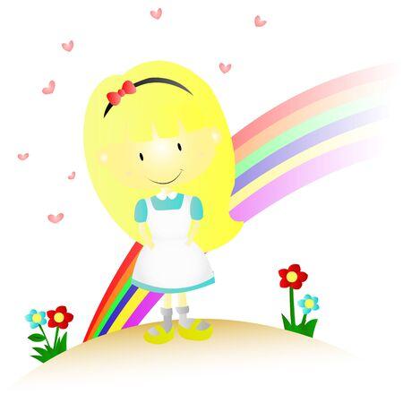 Little Girl Illustration