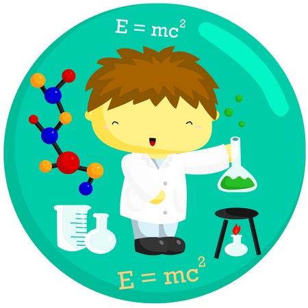 lab coat: Scientist Illustration