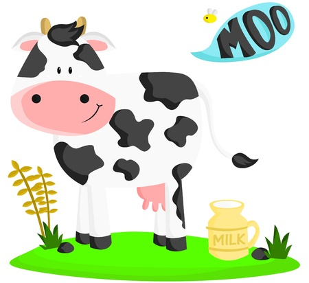 cartoon bee: Cow