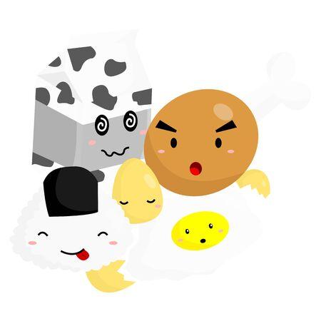 huevos fritos: Ilustración Comida