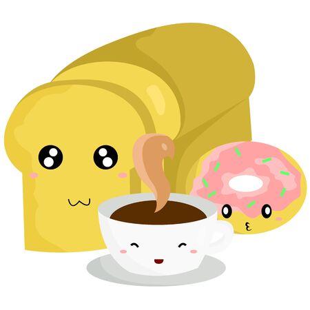 early morning: Breakfast Menu Illustration