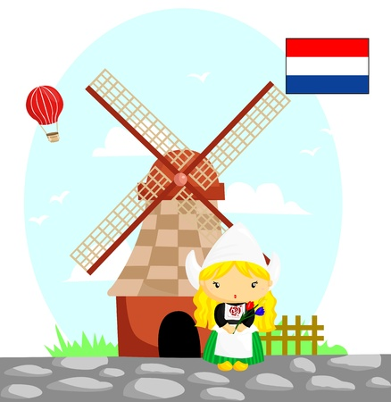 Dutch Flag and Culture Vector