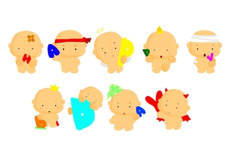 birthday angel: Happy Bday Illustration