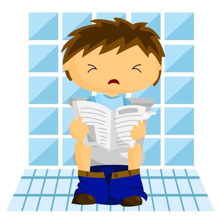 constipated: El hombre en el ba�o