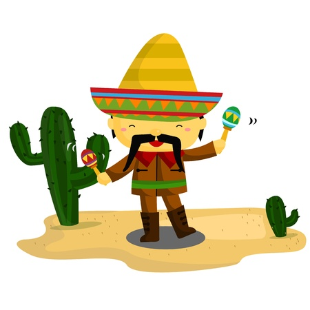 Mexican Guy Vector