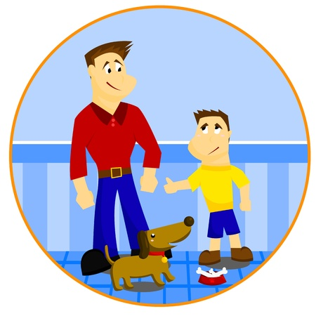 Father And Son Stock Vector - 21051144