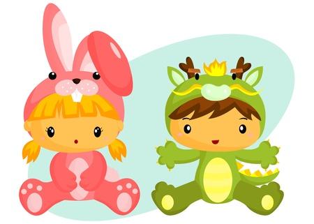 coy: Kid In Costume Illustration