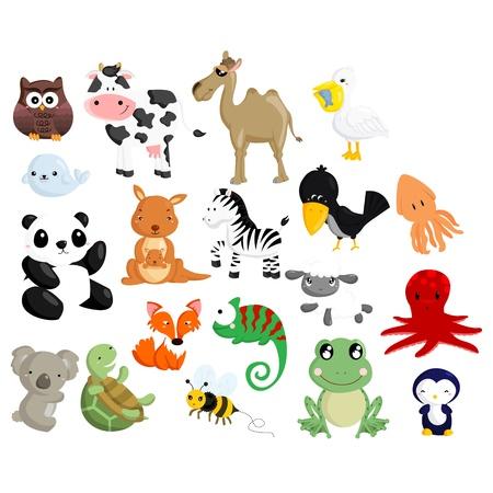 jaszczurka: Wektor zestaw zwierząt 2