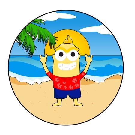 Beach Kid Stock Vector - 21051153
