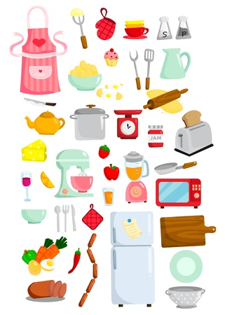 kitchen utensils: Kitchen Vector Set
