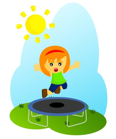 Trampoline Stock Vector - 21703517