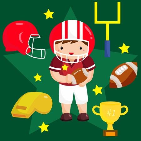 american football helmet collection: Football Vector Set Illustration