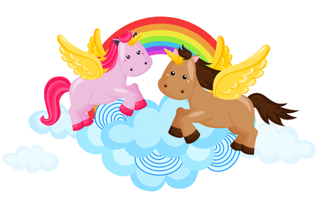 Rainbow Unicorn Vector
