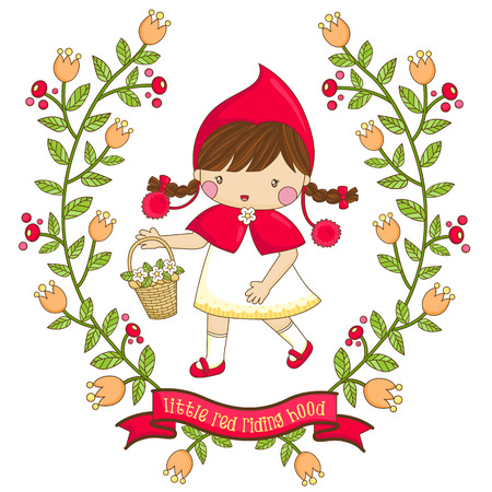 cartoon little red riding hood: Flower Girl