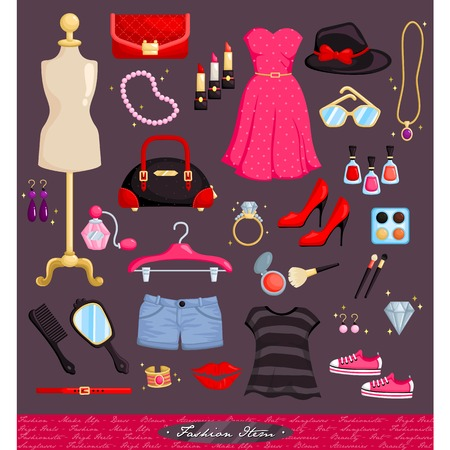 Fashion Item Set Vector