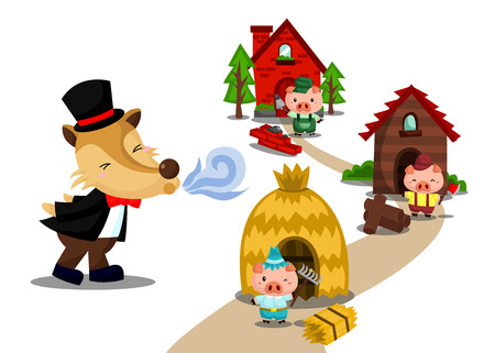 trois: Trois Petits Cochons Illustration