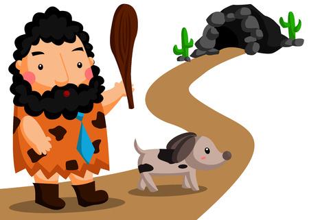edad de piedra: Stone Age Gente Vectores