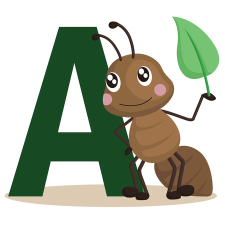 child learning: A for ant