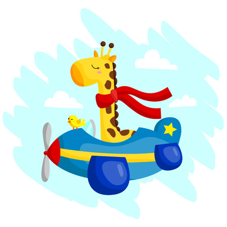 Flying Giraffe Vector