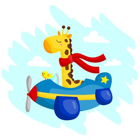 biplane: Flying Giraffe