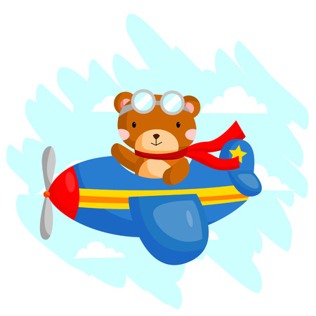 Flying Bear Vector