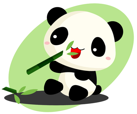 Panda eating bamboo Vector