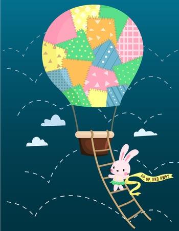 rope ladder: Air Balloon Rabbit