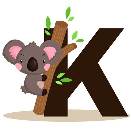 Alphabet K for Koala
