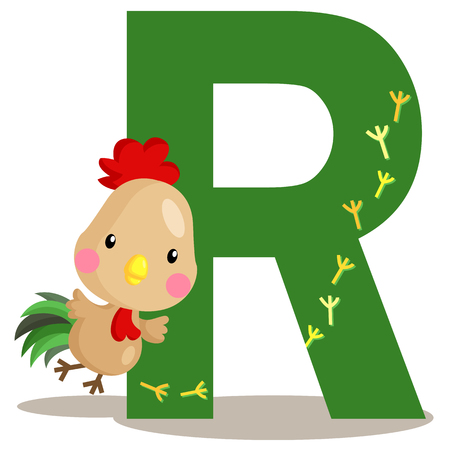 Alphabet R for Rooster