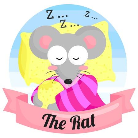 The Rat Chinese Zodiac Illustration