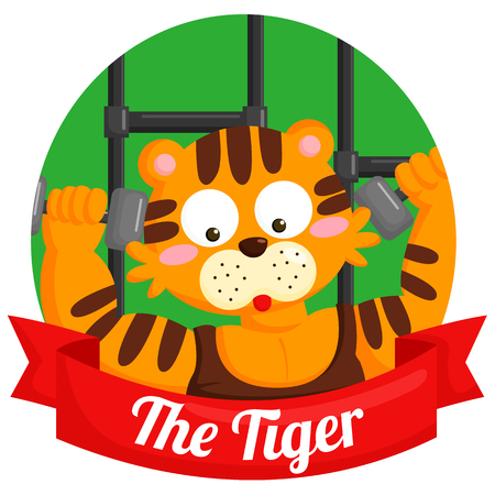 chinese zodiac sign: The Tiger Chinese Zodiac Illustration