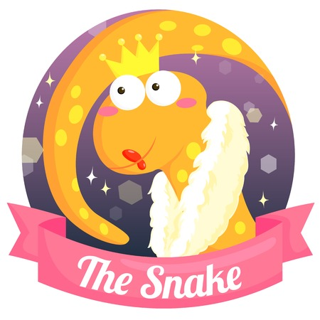 chinese zodiac: The Snake Chinese Zodiac Illustration