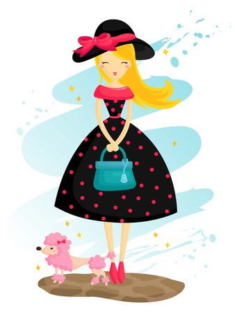 Paris Girl Illustration