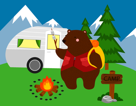 snow tire: Camping Bear