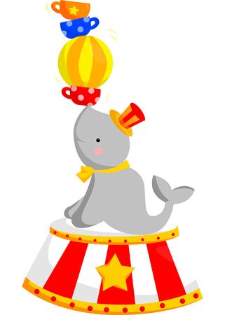 Circus Seal Vector