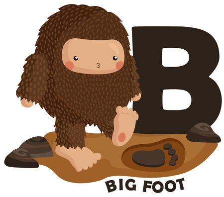 big foot: B for Big Foot Illustration