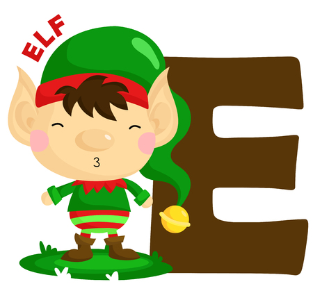 elf cartoon: E for Elf