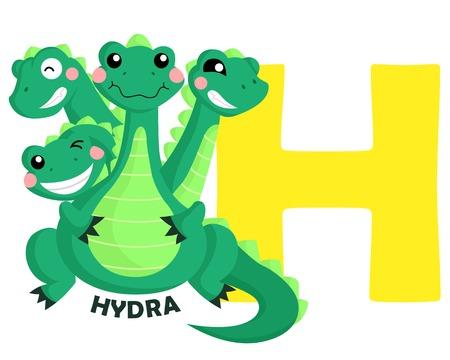 H for Hydra Illustration